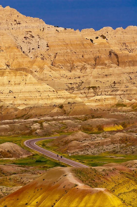 View from Conata Basin Overlook, Badlands National Park, South Dakota USA