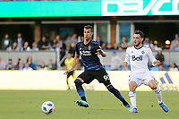San Jose, CA - Saturday August 25, 2018: Luis Felipe during a Major League Soccer (MLS) match between the San Jose Earthquakes and Vancouver Whitecaps FC at Avaya Stadium.