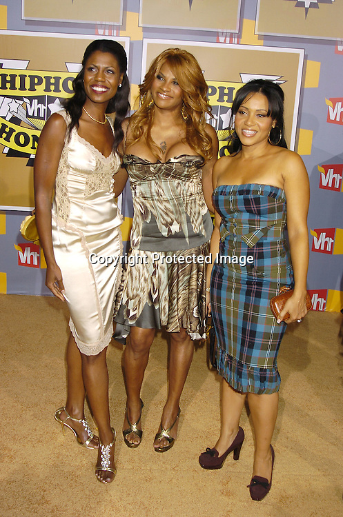 Omarosa Manigault-Stallworth and Salt-N-Pepa..at the 2nd Annual VH1 Hip Hop Honors taping on ..September 22, 2005 which will air on VH1 on September 26, 2005. ..Photo by Robin Platzer, Twin Images