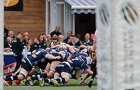 Ealing's Alex Walker oversees the scrum during the Greene King IPA Championship match between Ealing Trailfinders and Bedford Blues at Castle Bar , West Ealing , England  on 29 October 2016. Photo by Carlton Myrie / PRiME Media