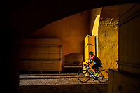 A Colombian cyclist rides his bicycle through the Clock Tower gate, the entrance to the colonial walled city, during the sunrise in Cartagena, Colombia, 13 December 2017. With the peace agreement, ending a 52-year civil conflict and promising political stability, together with rapid economic growth and unexploited tourism potential, Colombia has truly become a holiday destination. Cartagena, a UNESCO World Heritage site on the tropical Caribbean coast, plays the primary role in Colombia's tourism renaissance. The historic sites from the Spanish colonial times are being restored, private investments are visible throughout the city and an increased number of local people benefit from the boom of the travel related services.