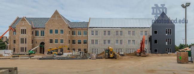 Sept. 28, 2015; South facade of McCourtney Hall during construction. (Photo by Matt Cashore/University of Notre Dame)