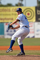 Dae-Eun Rhee (44) of the Daytona Cubs during a game vs. the St. Lucie Mets  May 16 2010 at Jackie Robinson Ballpark in Daytona, Florida. St. Lucie won the game against Daytona by the score of 5-3.  Photo By Scott Jontes/Four Seam Images