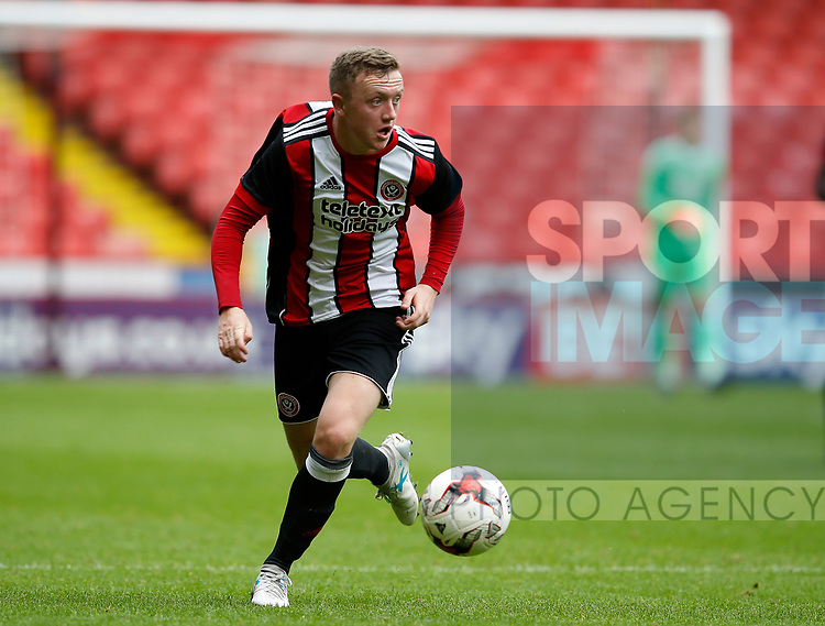 Jordan Hallam of Sheffield Utd during the Professional Development U23 match at Bramall Lane, Sheffield. Picture date 4th September 2017. Picture credit should read: Simon Bellis/Sportimage