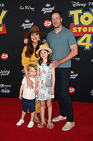 "HOLLYWOOD, CA - JUNE 11: Tiffani Thiessen, Brady Smith, Harper Renn Smith, Holt Fisher Smith, at The Premiere Of Disney And Pixar's ""Toy Story 4"" at El Capitan theatre in Hollywood, California on June 11, 2019. <br /> CAP/MPIFS<br /> ©MPIFS/Capital Pictures"