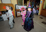Children arrive from Ennis NS to the Clare Champion Halloween Party for Ennis NS and Holy family school children. Photograph by John Kelly.