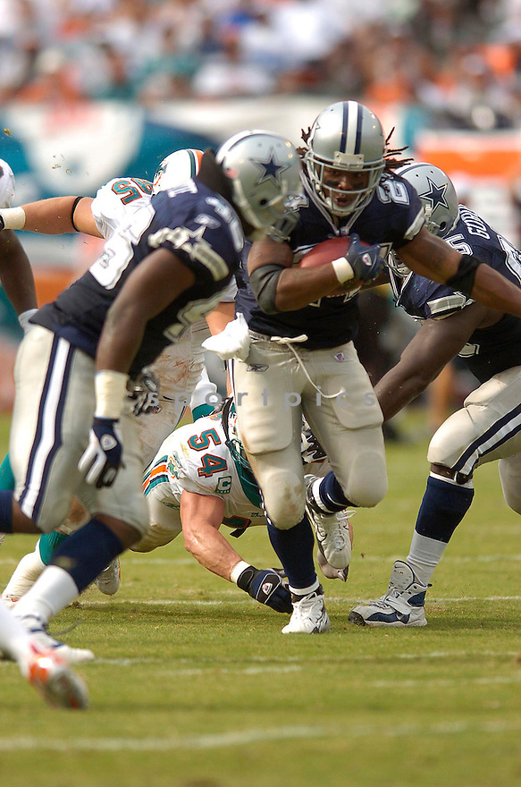 MARION BARBER, of the Dallas Cowboy, during the Cowboys game against the Miami Dolphins on September 16, 2007.  The Dallas Cowboys beat the Miami Dolphins 37-10....