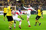09.03.2019, Signal Iduna Park, Dortmund, GER, 1.FBL, Borussia Dortmund vs VfB Stuttgart, DFL REGULATIONS PROHIBIT ANY USE OF PHOTOGRAPHS AS IMAGE SEQUENCES AND/OR QUASI-VIDEO<br /> <br /> im Bild   picture shows:<br /> Gonzalo Castro (VfB Stuttgart #8) kl&auml;rt den Ball mit Emiliano Insua (VfB Stuttgart #2), <br /> <br /> Foto &copy; nordphoto / Rauch