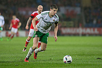 Paddy McNair of Northern Ireland during the International Friendly match between Wales and Northern Ireland at Cardiff City Stadium, Cardiff, Wales on 24 March 2016. Photo by Mark  Hawkins / PRiME Media Images.