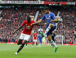 Eric Bailly of Manchester United in action with Diego Costa of Chelsea during the English Premier League match at Old Trafford Stadium, Manchester. Picture date: April 16th 2017. Pic credit should read: Simon Bellis/Sportimage