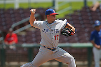 May 14 2009: Justin Friend of the Stockton Ports during game against the Inland Empire 66'ers at Arrowhead Credit Union Park in San Bernardino,CA.  Photo by Larry Goren/Four Seam Images
