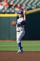 South Bend Cubs second baseman Andrew Ely (8) during a game against the Dayton Dragons on May 11, 2016 at Fifth Third Field in Dayton, Ohio.  South Bend defeated Dayton 2-0.  (Mike Janes/Four Seam Images)