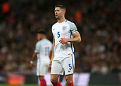 5th October 2017, Wembley Stadium, London, England; FIFA World Cup Qualification, England versus Slovenia; Gary Cahill of England looks on