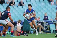 Mason Lino. Sydney Roosters v Vodafone Warriors, NRL Rugby League. Allianz Stadium, Sydney, Australia. 31st March 2018. Copyright Photo: David Neilson / www.photosport.nz
