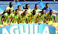 BARRANQUILLA - COLOMBIA, 04-02-2018: Formación del Atlético Bucaramanga durante el encuentro contra el Atlético Junior por la fecha 1 de la Liga Águila II 2018 jugado en el estadio Metropolitano Roberto Meléndez. / Team of Atletico Bucaramanga during match agaisnt Atletico Bucaramanga   for the date 1 of the Aguila League I 2018 played at Metropolitano Roberto Meléndez  stadium. Photo: VizzorImage/ Alfonso Cervantes / Contribuidor