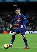 4th November 2017, Camp Nou, Barcelona, Spain; La Liga football, Barcelona versus Sevilla; Catalan player Gerard Deulofeu on the ball