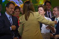 RIO DE JANEIRO, RJ, 13 DE FEVEREIRO DE 2012 - Cerimônia de Posse da nova Presidente da Petrobrás  - A nova Presidente da Petrobras, Graça Foster, recebe cumprimentos da Presidente do Brasil, Dilma Roussef, na cerimônia de tomada de posse, na sede da Petrobras.<br /> FOTO GLAICON EMRICH - NEWS FRE