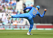 June 18th 2017, The Kia Oval, London, England;  ICC Champions Trophy Cricket Final; India versus Pakistan; Virat Kohli of India fields the ball