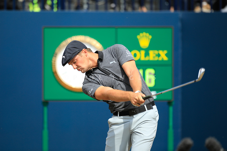 Bryson DeChambeau (USA) during the first round of the 147th Open Championship played at Carnoustie Links, Angus, Scotland. 19/07/2018<br /> Picture: Golffile   Phil Inglis<br /> <br /> All photo usage must carry mandatory copyright credit ©Phil INGLIS)