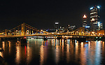 Night view of downtown Pittsburgh from the North Shore of the Allegheny River