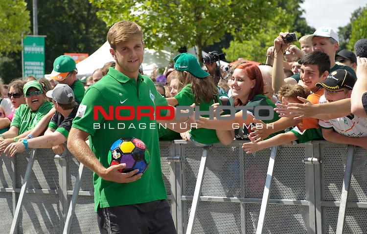 28.07.2013, Weserstadion, Bremen, GER, 1.FBL, Werder Bremen Tag der Fans 2013, im Bild Niclas F&uuml;llkrug / Fuellkrug (Bremen #41)<br /> <br /> Foto &copy; nph / Frisch