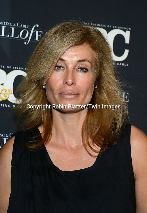 Frederique van der Wal attends the 24th Annual Broadcasting &amp; Cable Hall of Fame Awards Dinner on October 20, 2014 at The Waldorf Astoria Hotel in New York City. <br /> <br /> photo by Robin Platzer/Twin Images<br />  <br /> phone number 212-935-0770