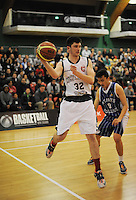 Westlake's Ugo Pierantoni in action during the 2014 National Secondary Schools Basketball Championship AA boys' semifinal between Westlake Boys' High School and St Patrick's College Town at Arena Manawatu, Palmerston North, New Zealand on Friday, 3 October 2014. Photo: Dave Lintott / lintottphoto.co.nz