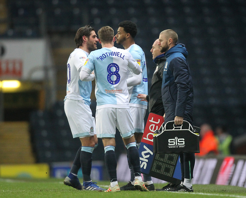 Blackburn Rovers Joe Nuttall replaces Blackburn Rovers Danny Graham<br /> <br /> Photographer Mick Walker/CameraSport<br /> <br /> The EFL Sky Bet Championship - Blackburn Rovers v Ipswich Town - Saturday 19 January 2019 - Ewood Park - Blackburn<br /> <br /> World Copyright © 2019 CameraSport. All rights reserved. 43 Linden Ave. Countesthorpe. Leicester. England. LE8 5PG - Tel: +44 (0) 116 277 4147 - admin@camerasport.com - www.camerasport.com