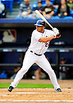 2 March 2010: New York Mets' outfielder Fernando Martinez at bat during a game against the Atlanta Braves during the Opening Day of Grapefruit League play at Tradition Field in Port St. Lucie, Florida. The Mets defeated the Braves 4-2 in Spring Training action. Mandatory Credit: Ed Wolfstein Photo