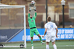 SALEM, VA - DECEMBER 3:Scott Greenwood (30) of Tufts University makes a save during theDivision III Men's Soccer Championship held at Kerr Stadium on December 3, 2016 in Salem, Virginia. Tufts defeated Calvin 1-0 for the national title. (Photo by Kelsey Grant/NCAA Photos)