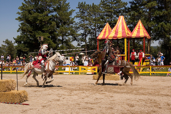 Knights jousting at the Renaissance Festival, Larkspur, Colorado. .  John offers private photo tours in Denver, Boulder and throughout Colorado. Year-round.