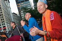 New York, NY -  23 October 2011 - Devotees of Hare Krishna join anti-Wall Street protesters in Liberty Square, Zuccotti Park. Occupy Wall Street