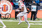 Wisconsin Badgers kick returner A.J. Taylor (4) returns a kick during an NCAA College Big Ten Conference football game against the Illinois Fighting Illini Saturday, October 28, 2017, in Champaign, Illinois. The Badgers won 24-10. (Photo by David Stluka)