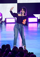LOS ANGELES, CA - MARCH 24: Camila Cabello appears on the Nickelodeon Kids Choice Awards 2018 at The Forum on March 24, 2018 in Los Angeles, California. (Photo by Frank Micelotta/PictureGroup)
