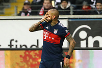 celebrate the goal, Torjubel zum 0:1 Arturo Vidal (FC Bayern Muenchen) - 09.12.2017: Eintracht Frankfurt vs. FC Bayern München, Commerzbank Arena