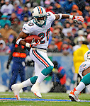 9 December 2007: Miami Dolphins running back Lorenzo Booker in action against the Buffalo Bills at Ralph Wilson Stadium in Orchard Park, NY. The Bills defeated the Dolphins 38-17. ..Mandatory Photo Credit: Ed Wolfstein Photo