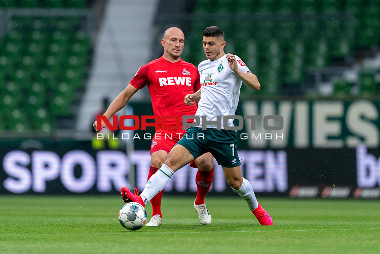 Milot Rashica (Werder Bremen #07), Toni Leistner (FC Koeln #37 )<br /> <br /> <br /> Sport: nphgm001: Fussball: 1. Bundesliga: Saison 19/20: 34. Spieltag: SV Werder Bremen vs 1.FC Koeln  27.06.2020<br /> <br /> Foto: gumzmedia/nordphoto/POOL <br /> <br /> DFL regulations prohibit any use of photographs as image sequences and/or quasi-video.<br /> EDITORIAL USE ONLY<br /> National and international News-Agencies OUT.