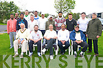 Kerry Cricket club start of season T/20 Friendly Killarney v Kilcolman at the Tralee Sports complex on Monday  Front left to right Lesley Handelman, Rev. Mort Hanley, Edward Gaiczynski, Mohmoad Shefique, Dave Ramsay.  Back left to right, Abdul Amemnnan, Nadeem Amjad, Alex Francies, Jonathan Bowden, Sean Rutland, Brince Thomas, Mohsin Taj, Kamran Sabrie, Ahsan Memon, Osowais Bacha, Michael O'Leary and Gordon Hall