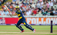 Glamorgan's Kiran Carlson batting<br /> <br /> Photographer Andrew Kearns/CameraSport<br /> <br /> NatWest T20 Blast Semi-Final - Birmingham Bears v Glamorgan - Saturday 2nd September 2017 - Edgbaston, Birmingham<br /> <br /> World Copyright &copy; 2017 CameraSport. All rights reserved. 43 Linden Ave. Countesthorpe. Leicester. England. LE8 5PG - Tel: +44 (0) 116 277 4147 - admin@camerasport.com - www.camerasport.com