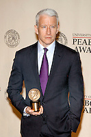 Anderson Cooper at The George Foster Peabody Awards at the Waldorf Astoria in New York City. May 21, 2012. © Laura Trevino/MediaPunch Inc.
