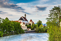 The Franciscan Abby on the banks of the Lech River in Fussen Germany.   There is much for to see in Fussen that just Neuschwanstein Castle.