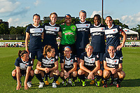 Sky Blue FC starting eleven. The Western New York Flash defeated Sky Blue FC 3-0 during a National Women's Soccer League (NWSL) match at Yurcak Field in Piscataway, NJ, on June 8, 2013.