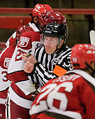 Dean Gilbert - The Harvard University Crimson defeated the St. Lawrence University Saints 4-3 on senior night Saturday, February 26, 2011, at Bright Hockey Center in Cambridge, Massachusetts.