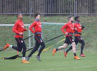 Sebastien Haller (Eintracht Frankfurt), Makoto Hasebe (Eintracht Frankfurt), Marc Stendera (Eintracht Frankfurt), Taleb Tawatha (Eintracht Frankfurt) - 04.04.2018: Eintracht Frankfurt Training, Commerzbank Arena