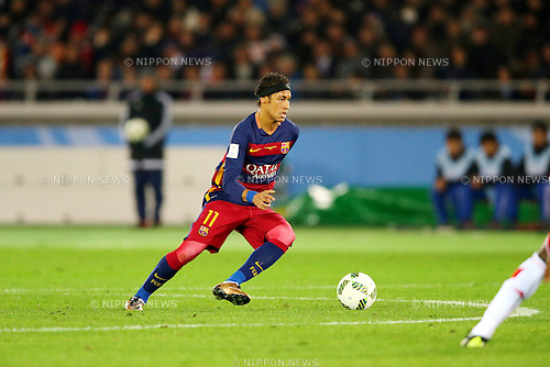 Neymar (Barcelona),<br /> DECEMBER 20, 2015 - Football / Soccer :<br /> FIFA Club World Cup Japan 2015 Final match between River Plate 0-3 FC Barcelona at International Stadium Yokohama in Kanagawa, Japan. (Photo by AFLO)