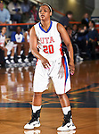 Texas - Arlington Mavericks guard Tamara Simmons (20) waits for a pass  in the game between the UTA Mavericks and the  Nicholls State University Colonels  held at the University of Texas in Arlington's Texas Hall in Arlington, Texas. UTA defeats Nicholls 69 to 62