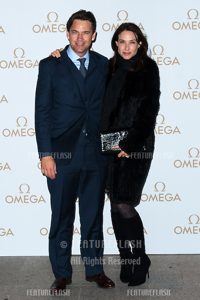 Dougray Scott and Claire Forlani arriving for the Omega Oxford Street Store Opening Party, The Shard, London. 10/12/2014 Picture by: Dave Norton / Featureflash