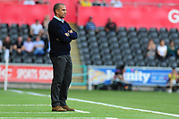 Sabri Lamouchi Manager of Nottingham Forest in action during the Sky Bet Championship match between Swansea City and Nottingham Forest at the Liberty Stadium in Swansea, Wales, UK. Saturday 14 September 2019