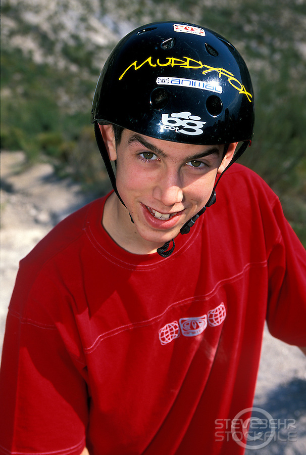 Gee Atherton.Orgiva Spain 2002.pic copyright Steve Behr / Stockfile