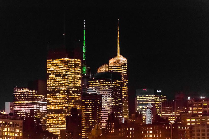 Skyscrapers, West side of Manhattan, New York, New York USA.